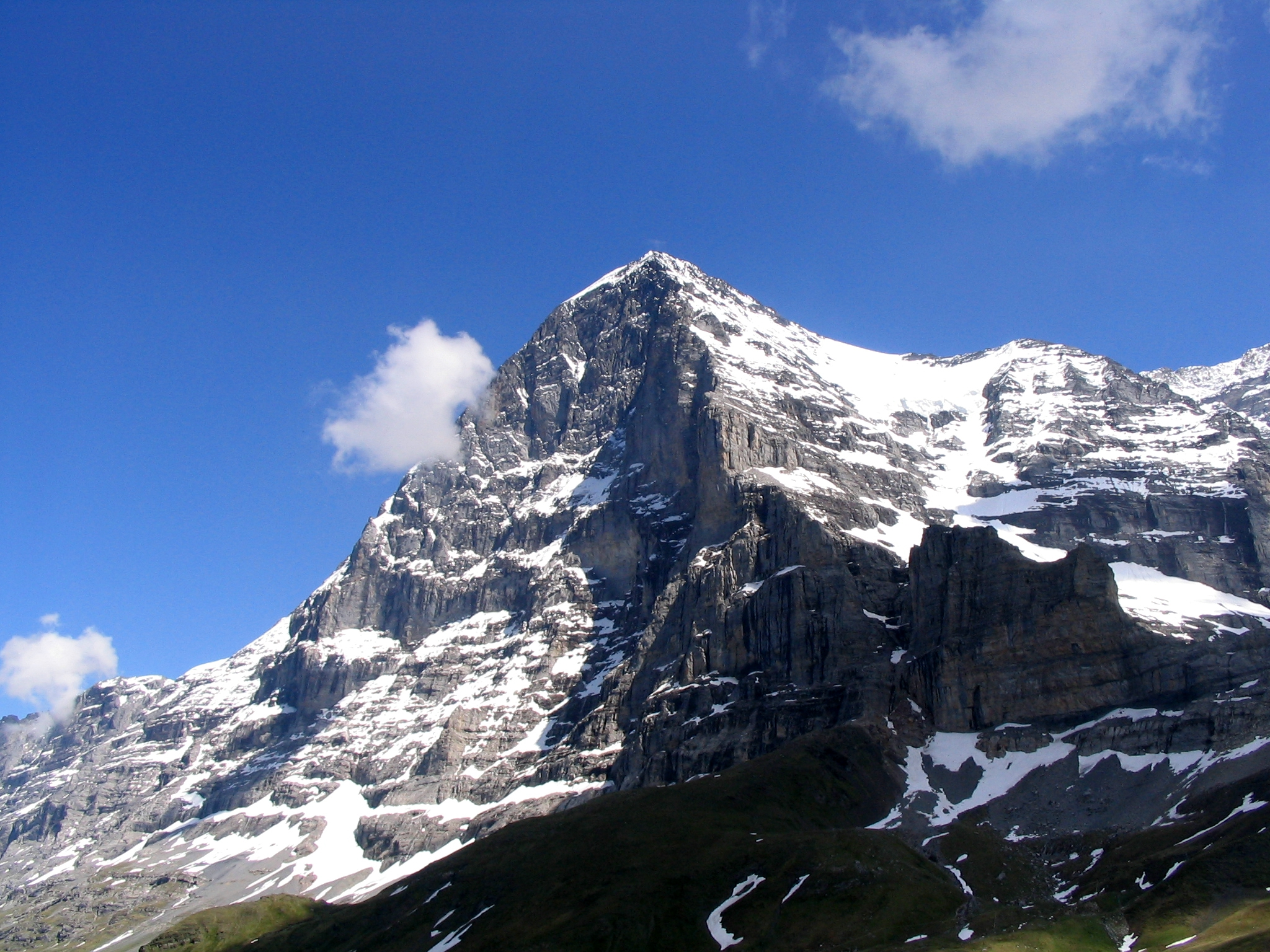 eiger great north face of alps