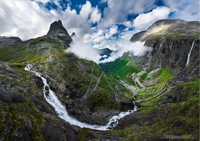 awesome mountain in norway