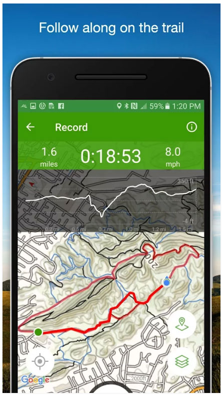 allTrails Outdoor apps for hiking